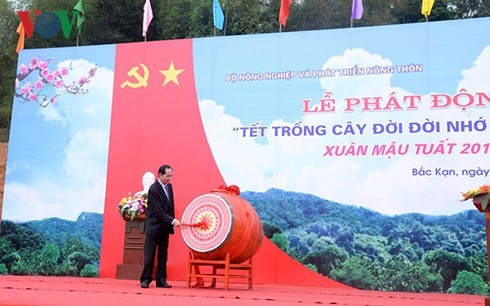 President launches tree planting festival  - ảnh 1