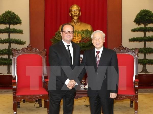 阮富仲总书记会见法国总统奥朗德 - ảnh 1