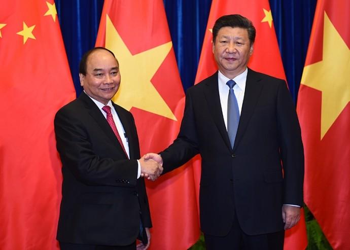 阮春福会见中共中央总书记、中国国家主席习近平 - ảnh 1