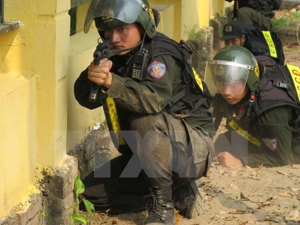 越中在边境举行联合反恐演练 - ảnh 1