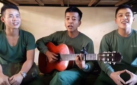 三名部队战士组合及其创作的歌曲 - ảnh 1
