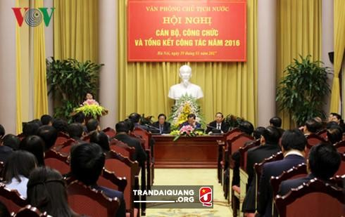 陈大光出席国家主席办公厅2016年工作总结会议 - ảnh 1