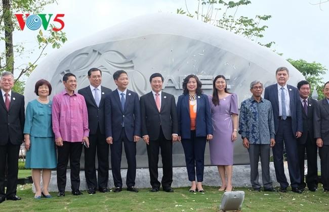 亚太经合组织雕塑公园开园   - ảnh 1