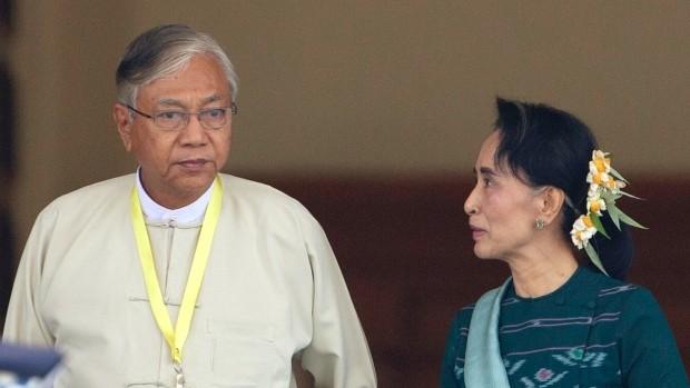 ผู้นำเวียดนามส่งโทเลขอวยพรถึงประธานาธิบดีพม่าคนใหม่ - ảnh 1
