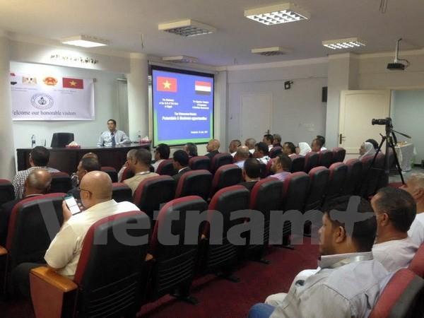 ผู้ประกอบการอียิปต์มีความประสงค์ขยายความร่วมมือในการประกอบธุรกิจกับหุ้นส่วนเวียดนาม  - ảnh 1
