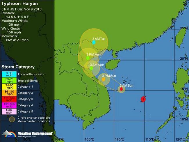 Centro de Vietnam lucha contra el supertifón Haiyan - ảnh 1