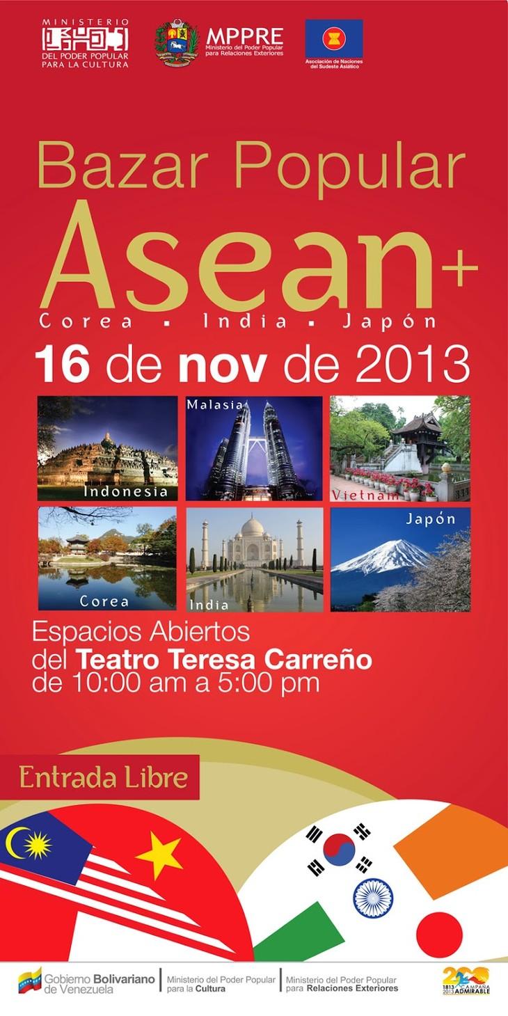 Países de ASEAN+3 presentarán sus culturas en Bazar navideño en Caracas  - ảnh 1
