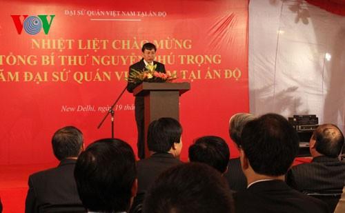 Actividades de líder partidista de Vietnam en India - ảnh 1