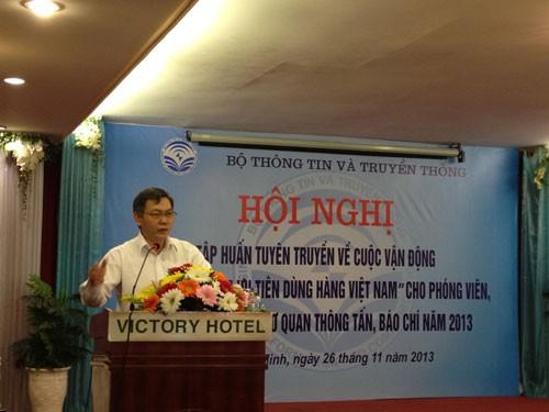 Destacan papel de periodistas en campaña en favor de productos vietnamitas - ảnh 1