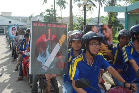 Vietnam impulsa campaña contra  el tabaquismo  - ảnh 1