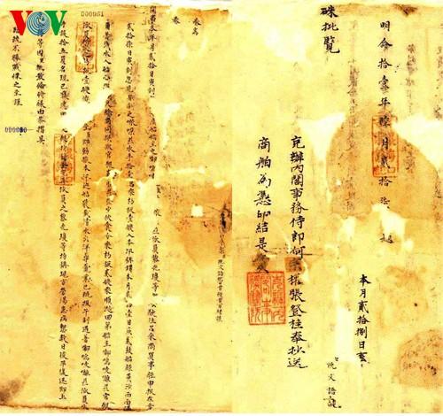 Documentos oficiales de los reyes, un nuevo patrimonio mundial de Vietnam - ảnh 1