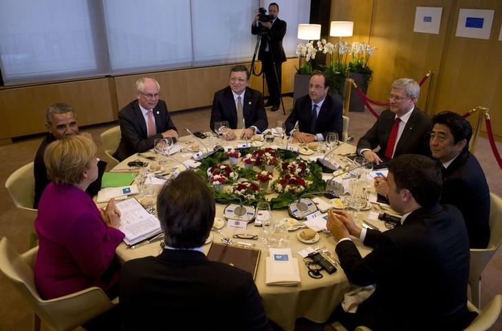 Comienza Cumbre de G7 centrada en el tema de Ucrania - ảnh 1