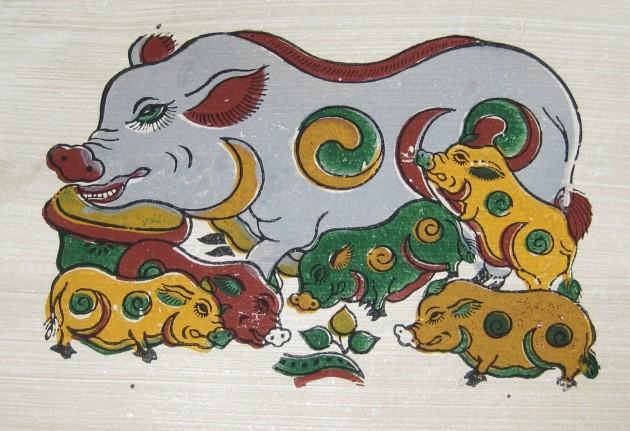 Aldea de pintura de Dong Ho, lugar que guarda el alma nacional en papel rojo - ảnh 3
