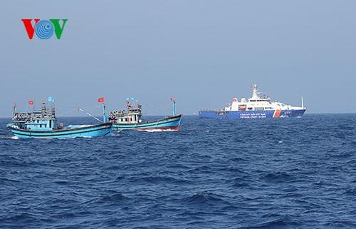 Pescadores vietnamitas mantienen trabajo con valentía en aguas violadas por China - ảnh 19