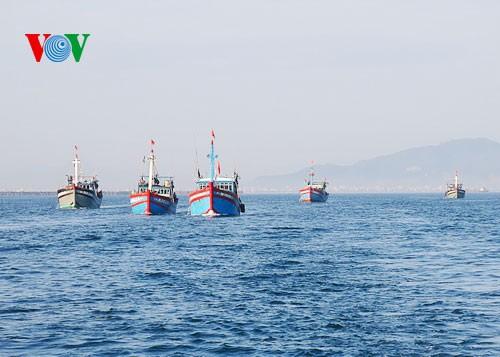 Pescadores vietnamitas mantienen trabajo con valentía en aguas violadas por China - ảnh 5