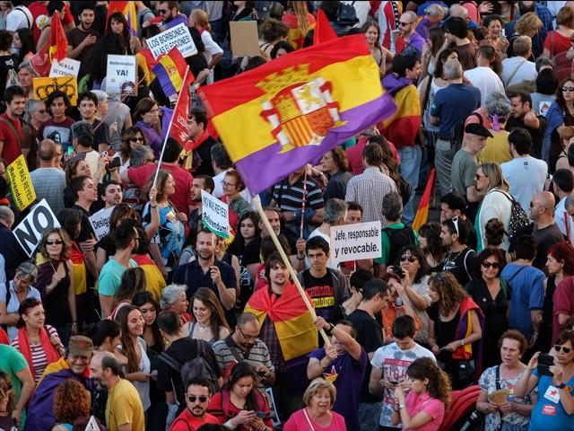 Protesta en Madrid contra monarquía española - ảnh 1