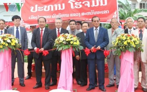 Inauguran en Laos nueva zona memorial del Presidente Ho Chi Minh - ảnh 1