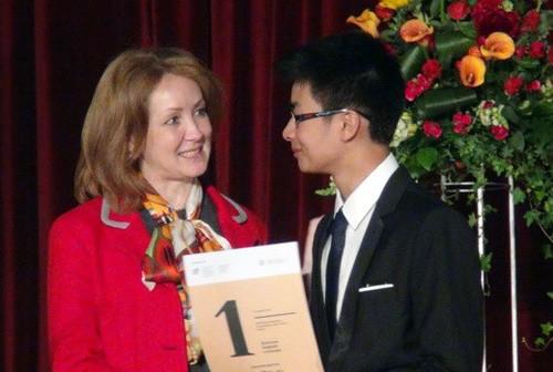 Triunfan estudiantes vietnamitas en concurso internacional de idioma ruso - ảnh 1