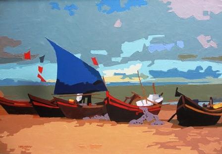 Artistas vietnamitas expresan amor hacia mar e islas nacionales - ảnh 2