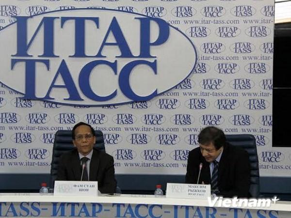 Sostienen rueda de prensa sobre el Día cultural vietnamita en Rusia - ảnh 1