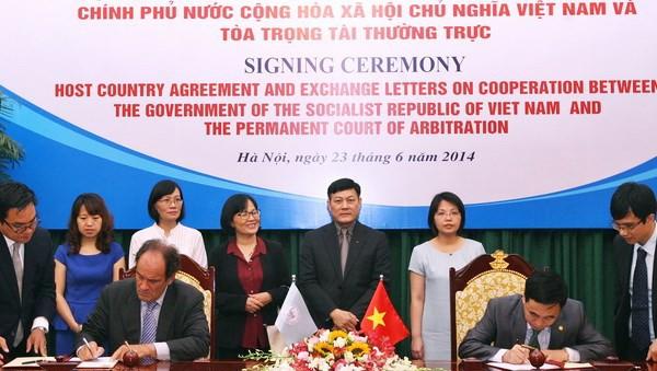 Vietnam y la Corte Permanente de Arbitraje de la Haya establecen vínculos de cooperación - ảnh 1