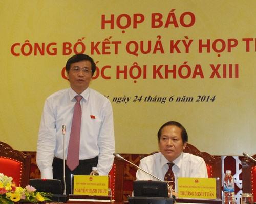 Conferencia de prensa internacional sobre resultados de las concluidas sesiones parlamentarias - ảnh 1