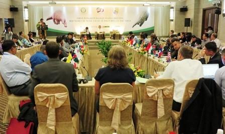 Vietnam acoge por primera vez reunión internacional sobre pangolines  - ảnh 1