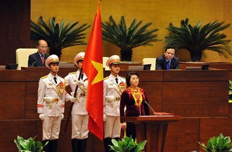 Por primera vez una mujer preside el Parlamento vietnamita - ảnh 1