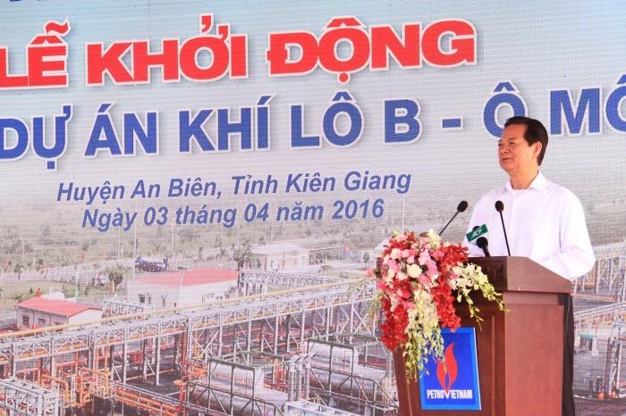 Inauguran proyecto de gas en Lote B-O Mon en Kien Giang - ảnh 1