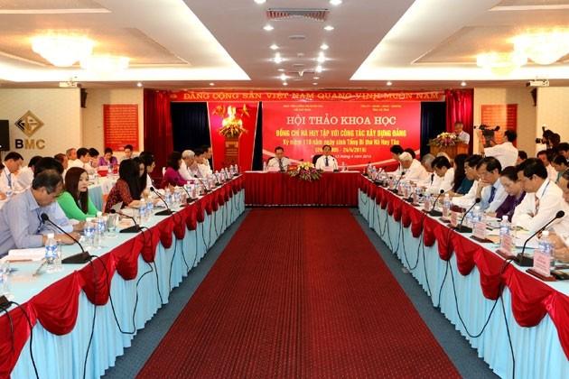 Conmemoran aniversario 110 del nacimiento de ex líder partidista de Vietnam - ảnh 1