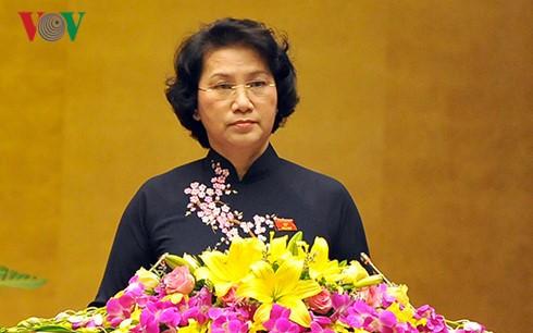 Clausurado último período de sesión de la Asamblea Nacional de Vietnam, XIII legislatura - ảnh 1