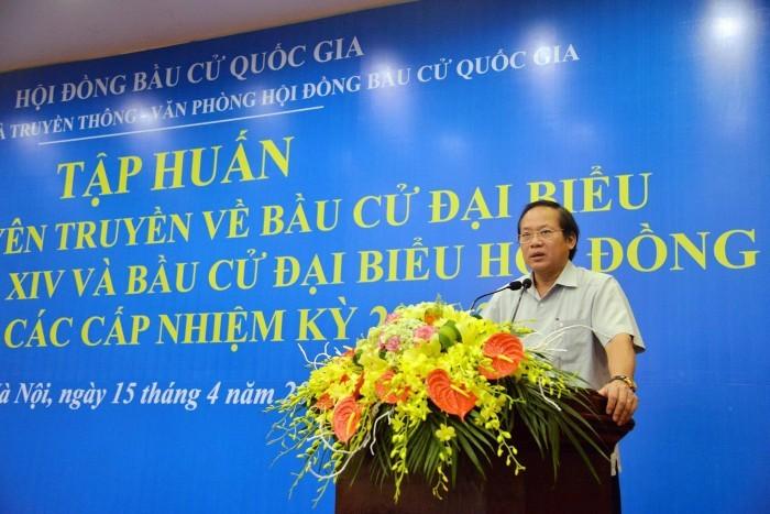 Efectúan entrenamiento de habilidades para periodistas sobre elecciones en Vietnam - ảnh 1