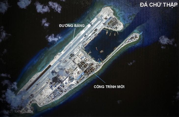 Avión chino aterriza en el arrecife de Chu Thap del archipiélago vietnamita de Truong Sa - ảnh 1