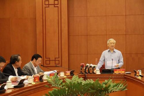 Preside líder partidista de Vietnam reunión del Comité anticorrupción - ảnh 1