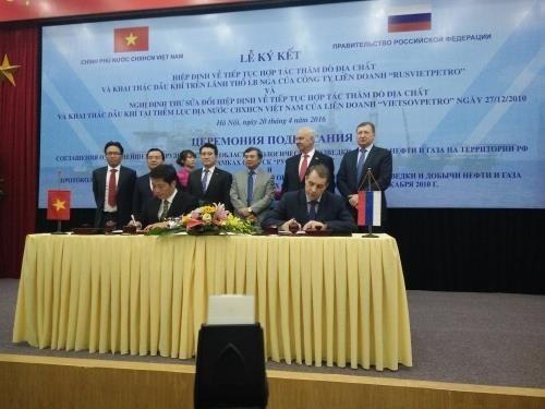 Rubrican Vietnam y Rusia acuerdos en exploración geológica y explotación petrolera - ảnh 1