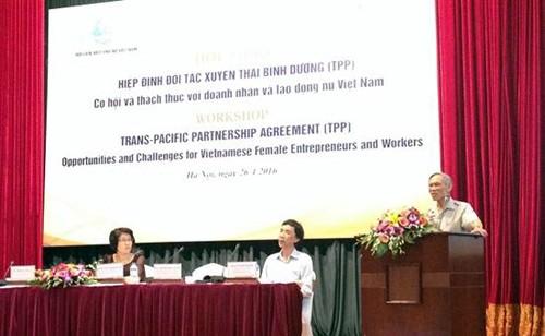 Tratado de Asociación Transpacífico, oportunidades y retos para población activa femenina de Vietnam - ảnh 1