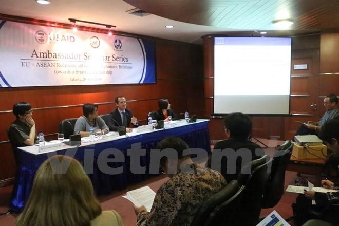 Unión Europea y Asociación de Naciones del Sudeste Asiático afianzan relaciones - ảnh 1