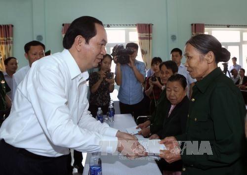 Honra presidente de Vietnam sacrificios de Madres Heroicas y mártires de guerra - ảnh 1