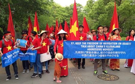 Protestan vietnamitas en Japón contra violaciones chinas en Mar del Este - ảnh 1