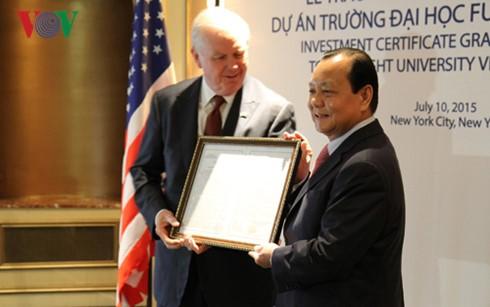 Cooperación en educación, hito en los lazos Vietnam-Estados Unidos - ảnh 1