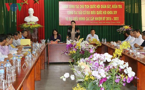 Líder parlamentaria supervisa labores pre electorales en An Giang - ảnh 1