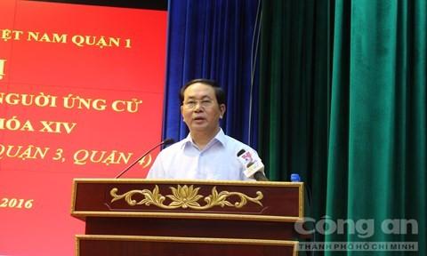 Prosiguen en Vietnam encuentros preelectorales entre candidatos y votantes  - ảnh 1