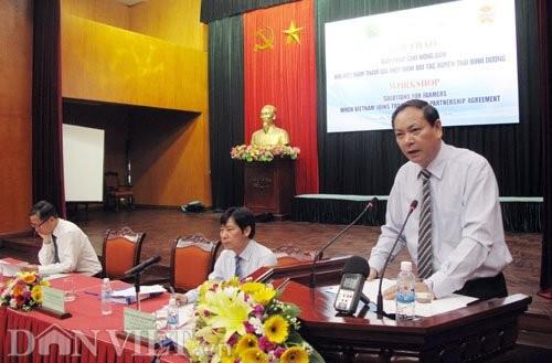 Buscan soluciones para agricultores vietnamitas al participar en el TPP - ảnh 1