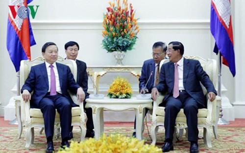 Vietnam y Camboya acordados en robustecer cooperación en protección de seguridad - ảnh 1