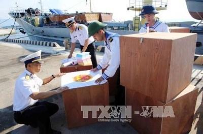 Listo distrito Truong Sa para tempranas elecciones parlamentarias  - ảnh 1