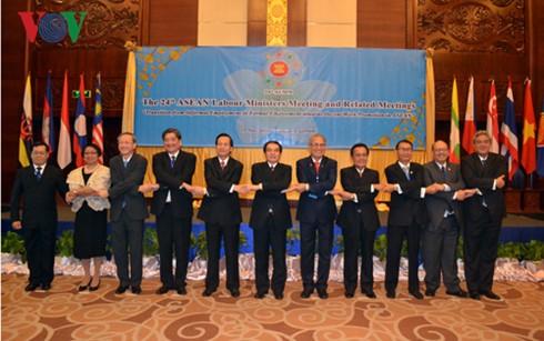 Concluye exitosamente XXIV Reunión de Ministros de Trabajo de ASEAN - ảnh 1