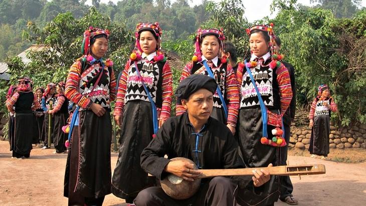 Música, instrumentos, y bailes tradicionales de los Ha Nhi - ảnh 2