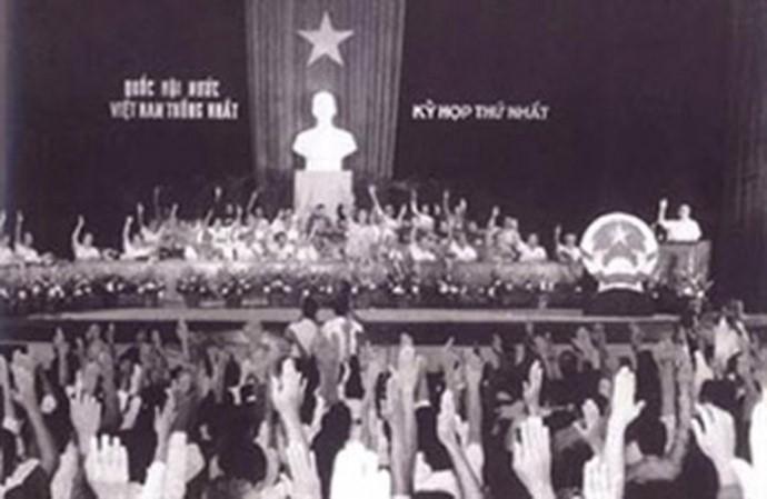 Imágenes históricas sobre las primeras elecciones generales de Vietnam - ảnh 8