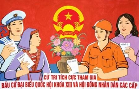 Elecciones generales- en jornada de plena democracia en Vietnam - ảnh 1
