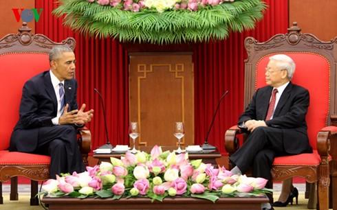 Líder partidista vietnamita se reúne con el presidente estadounidense Obama - ảnh 1